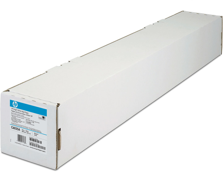 "HP Bright White Inkjet Paper, role 24"", 90 g/m2, 47 m"