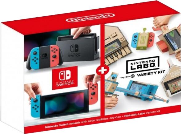 Nintendo Switch, červená/modrá + Nintendo Labo Variety Kit