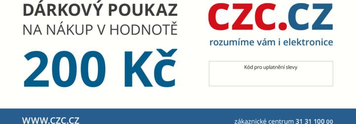 Dárkový poukaz CZC.cz 200Kč