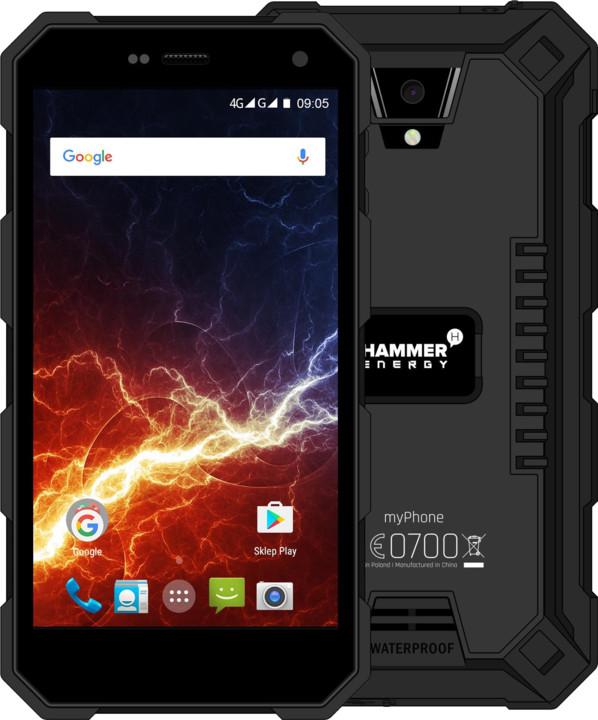 myPhone HAMMER ENERGY LTE, černá