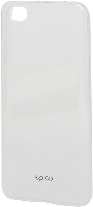 EPICO pružný plastový kryt pro Xiaomi Redmi Note 5A RONNY GLOSS - bílý transparentní