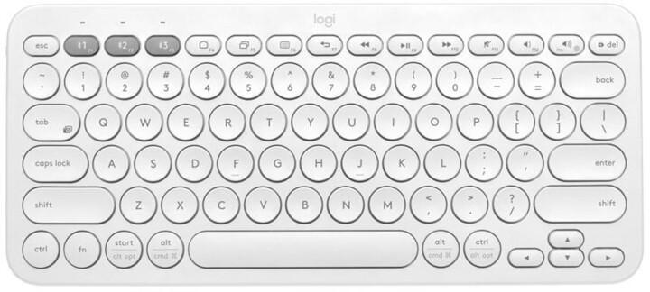 Logitech K380, bílá, US