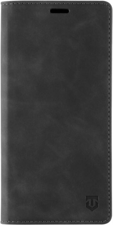 Tactical flipové pouzdro Xproof pro Samsung Galaxy A12, PU kůže, černá