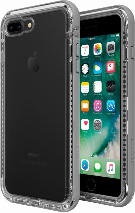 LifeProof Next ochranné pouzdro pro iPhone 7+/8+ průhledné - šedé
