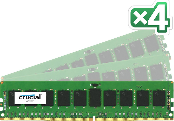 Crucial Server Memory 32GB (4x8GB) DDR4 2133, ECC, Single Ranked