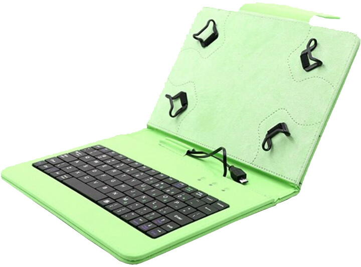 """C-TECH PROTECT NUTKC-01, pouzdro s klávesnicí pro 7-7.85"""", zelená"""