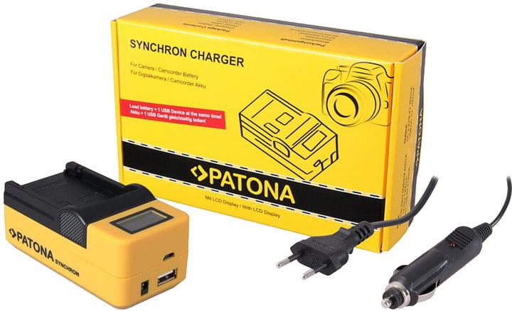 Patona nabíječka Synchron Casio NP-20/60, 230V/12V, LCD+USB