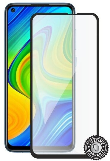 Screenshield ochrana displeje Tempered Glass pro Xiaomi Redmi Note 9S, full cover, černá