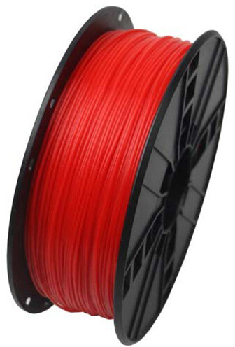 Gembird tisková struna (filament), ABS, 1,75mm, 1kg, fluorescentní červená