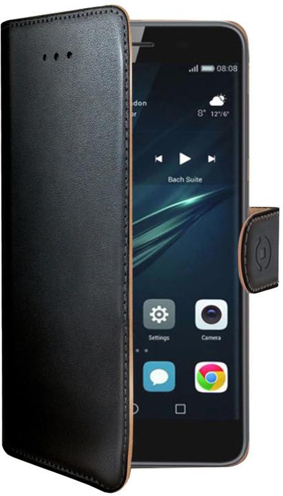 CELLY Wally pouzdro typu kniha pro Huawei Y6 II Compact, PU kůže, černé