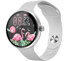IMMAX chytré hodinky Lady Music Fit, stříbrná - 09039