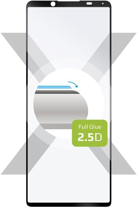 FIXED ochranné tvrzené sklo pro Sony Xperia 5 II, Full-Cover, 2.5D, černá