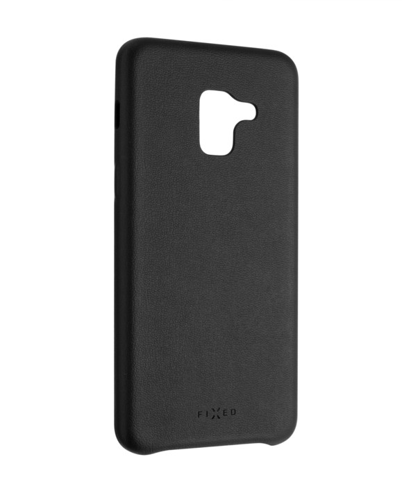 FIXED Zadní kryt Tale pro Samsung Galaxy A8 (2018), PU kůže, černý