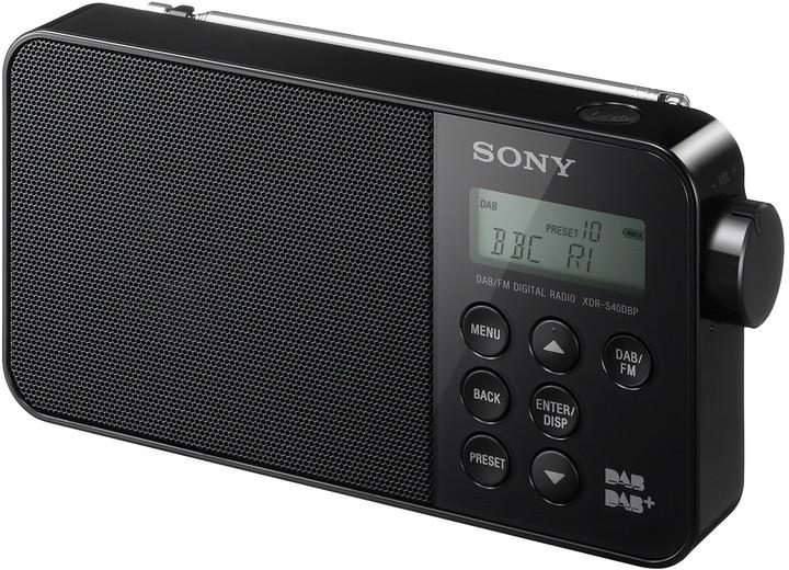 Sony XDR-S40DBP, černá