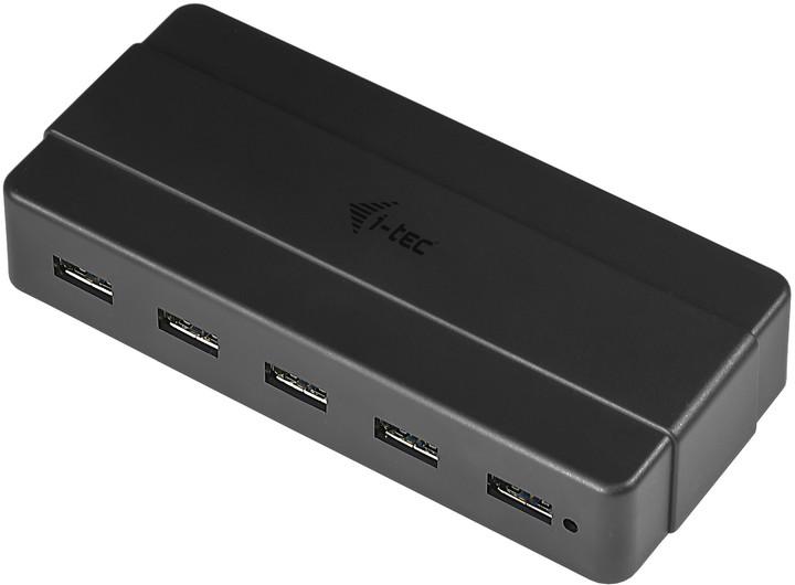 i-tec USB HUB Charging/ 7 portů/ 2 nabíjecí port/ USB 3.0/ napájecí adaptér/ černý