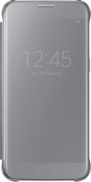 Samsung EF-ZG930CS Flip ClearView Galaxy S7,Silver