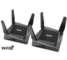ASUS RT-AX92U, AX6100, Tri-Band Gigabit Aimesh Router, 2ks Elektronické předplatné časopisu Reflex a novin E15 na půl roku v hodnotě 1518 Kč