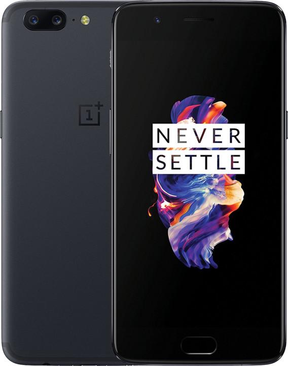 OnePlus 5 - 128GB, šedá