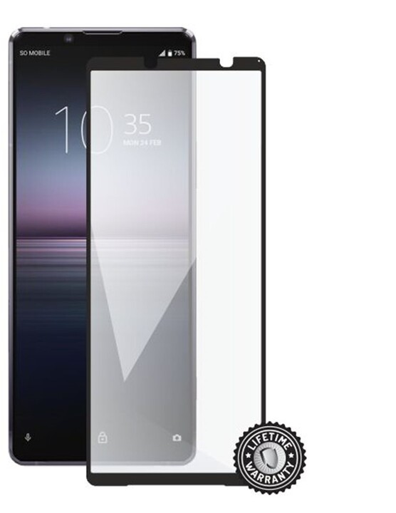 Screenshield ochrana displeje Tempered Glass pro SONY Xperia 1 II, Full Cover, černá