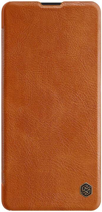 Nillkin Qin Book pouzdro pro Samsung Galaxy Note 10 Lite, hnědá