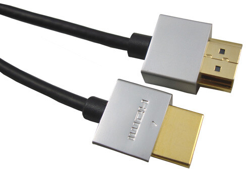 PremiumCord Slim HDMI + Ethernet kabel, 1m