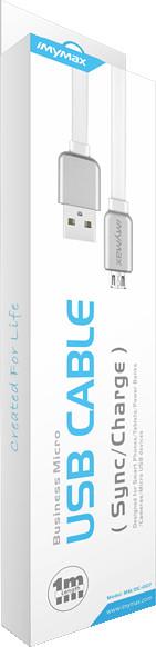 iMyMax Business Micro USB Cable, bílá/stříbrná