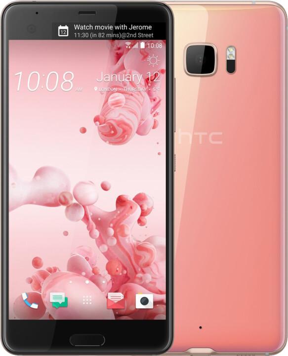 HTC U Ultra, pink