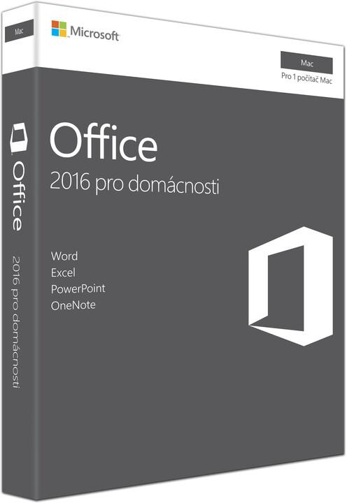 Microsoft Office Mac 2016 pro domácnosti
