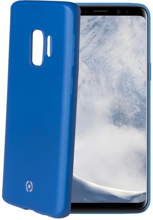 CELLY Softmatt TPU pouzdro pro Samsung Galaxy S9, matné provedení, modré