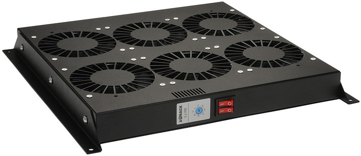 Solarix ventilační jednotka VJ-R6-T-B , 6 ventilátorů s termostatem, VJ-R6