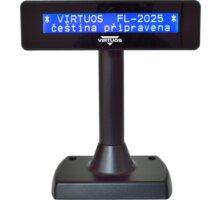 Virtuos FL-2025MB - LCD zákaznicky displej, 2x20, USB, černá - EJG0003