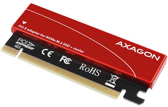 AXAGON PCEM2-S řadič, PCIe x16 - M.2 NVMe M-key slot adaptér, pasivní chladič
