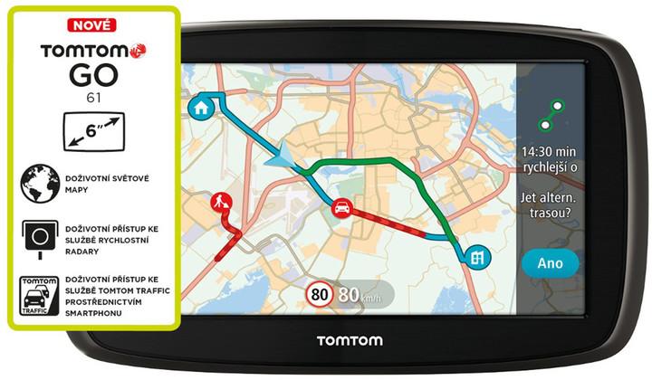 TOMTOM GO 61 World LIFETIME mapy