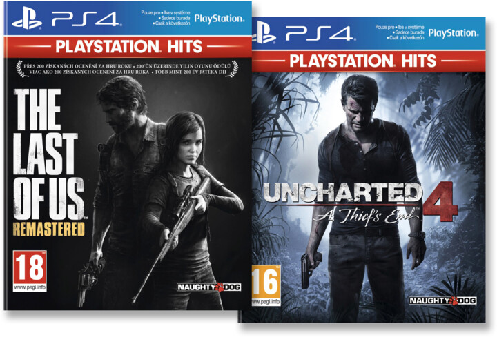 PS4 HITS - The Last of Us: Remastered + Uncharted 4: A Thief's End
