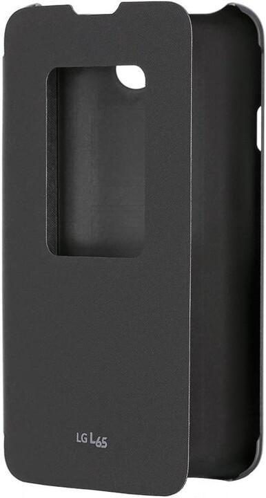LG flipové pouzdro QuickWindow CCF-450 pro LG D280n L65, černá