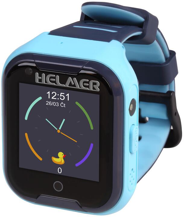 HELMER dětské hodinky LK 709 s GPS lokátorem, dotykový display, modré