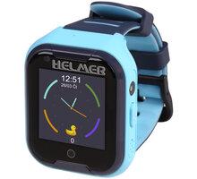 HELMER dětské hodinky LK 709 s GPS lokátorem, dotykový display, modré - LOKHEL1044