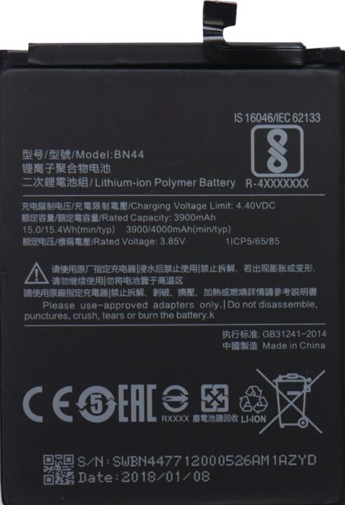 Xiaomi BN44 baterie 4000mAh pro Xiaomi Mi Max/Redmi 5 Plus (Bulk)
