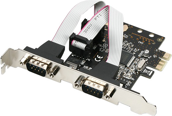 AXAGON PCI-Express adapter 2x sériový port + LP