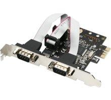 AXAGON PCI-Express adapter 2x sériový port + LP - PCEA-S2