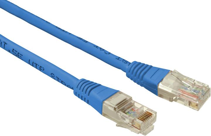 Solarix Patch kabel CAT5E UTP PVC 3m modrý non-snag-proof