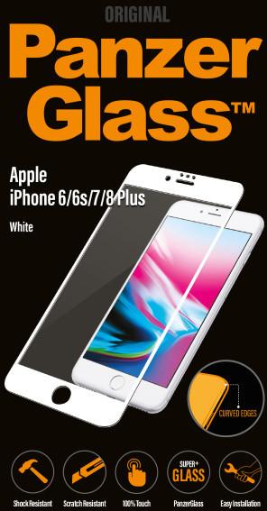 PanzerGlass Premium pro Apple iPhone 6/6s/7/8 Plus, bílé