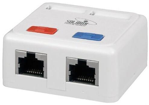 Solarix Eth.Zás. na om. 2xRJ45 UTP c5e se značením SX-288