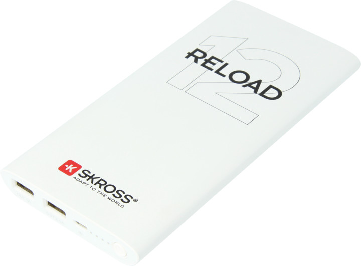 SKROSS powerbank Reload 12, 12000mAh, bílá