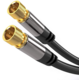 PremiumCord kabel satelitní F, M/M, HQ, (135dB), 4x stíněný, 3m, černá