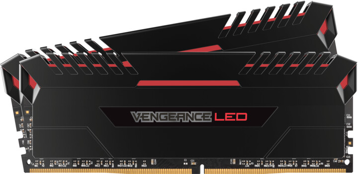 Corsair Vengeance LED Red 16GB (2x8GB) DDR4 2666