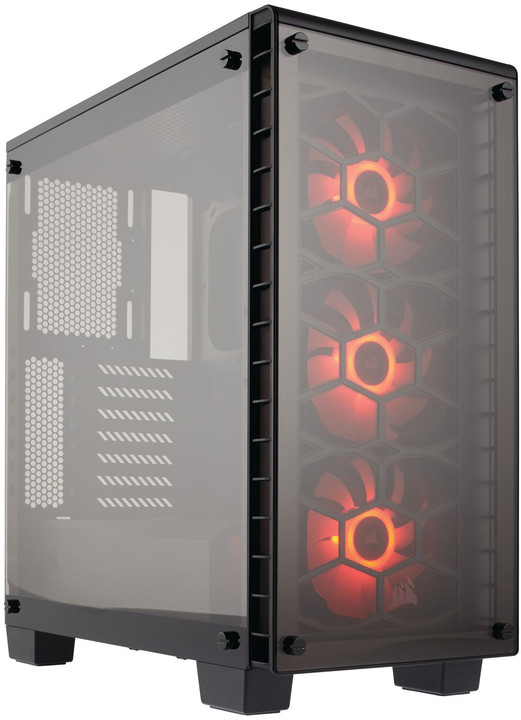 Corsair Crystal Series 460X RGB, tempered glass