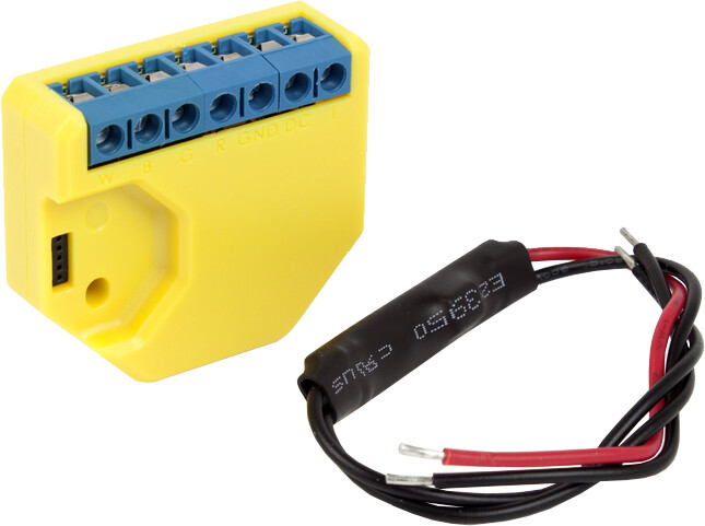 Shelly modul řízení LED pásků, RGBW, 4x PWM 12/24 V, WiFi