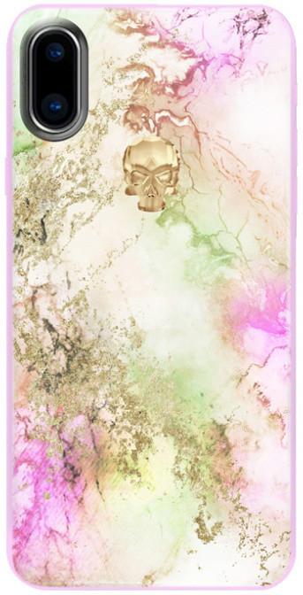 Bling My Thing Treasure Unicorn/Gold Skull zadní kryt pro Apple iPhone X, krystaly Swarovski®