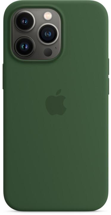 Apple silikonový kryt s MagSafe pro iPhone 13 Pro, jetelově zelená